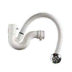 White Plain Bath Trap Adaptor & Overflow