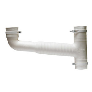 """White Double Sink Combo """"T"""" Piece & Elbow"""